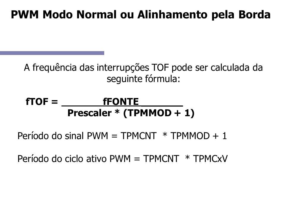 PWM Modo Normal ou Alinhamento pela Borda