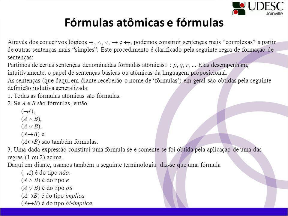 Fórmulas atômicas e fórmulas