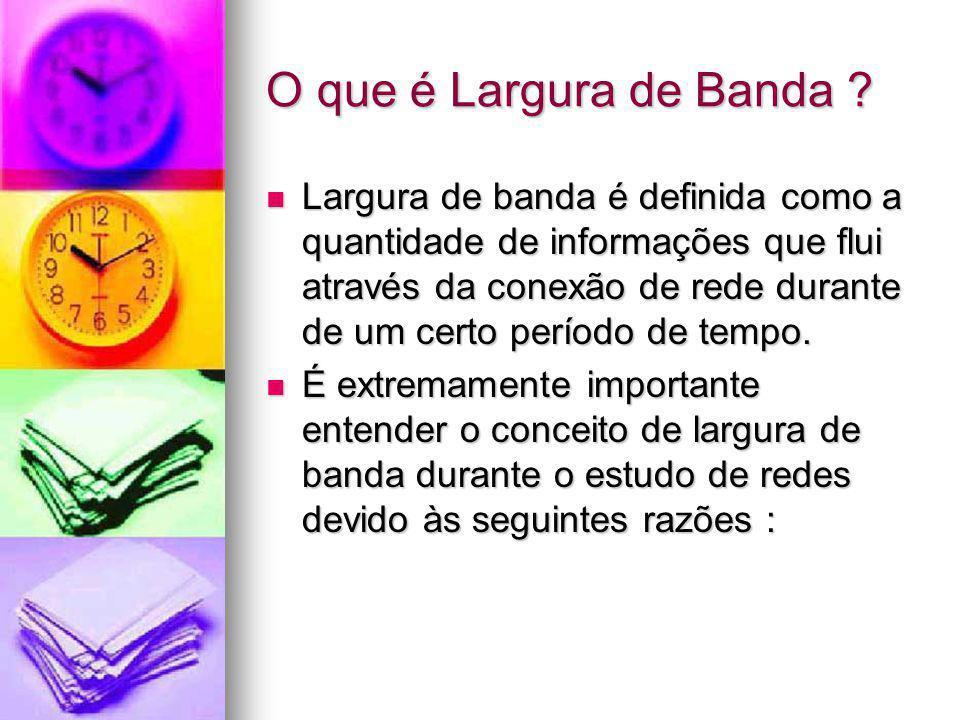 O que é Largura de Banda