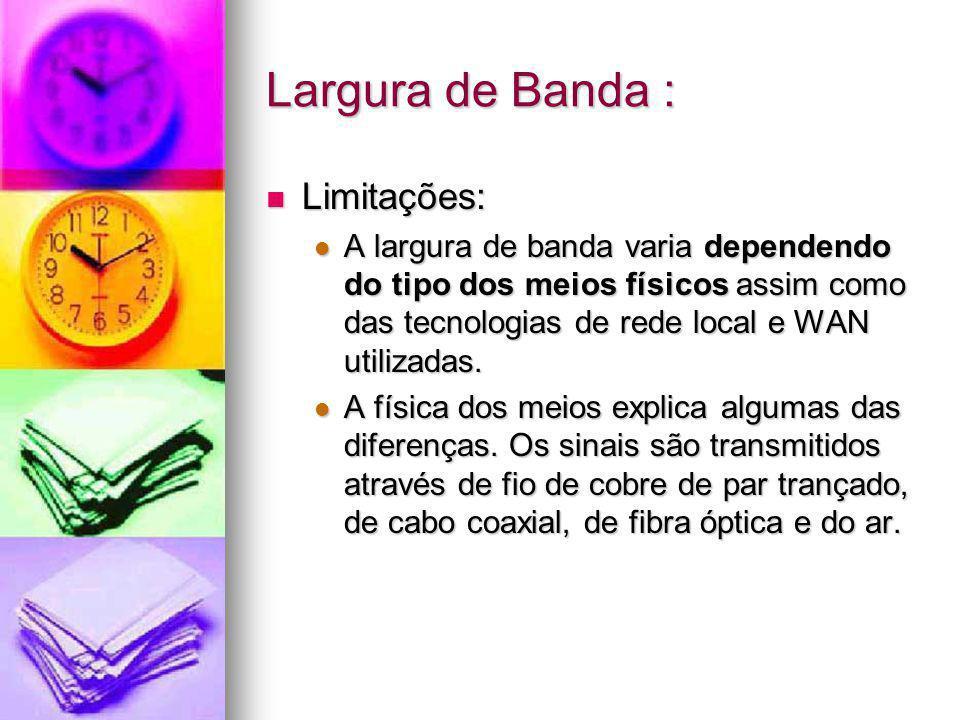 Largura de Banda : Limitações: