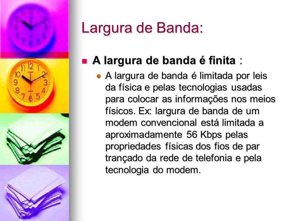 Largura de Banda: A largura de banda é finita :