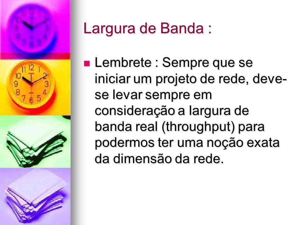 Largura de Banda :