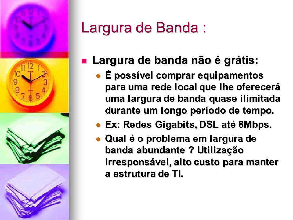 Largura de Banda : Largura de banda não é grátis: