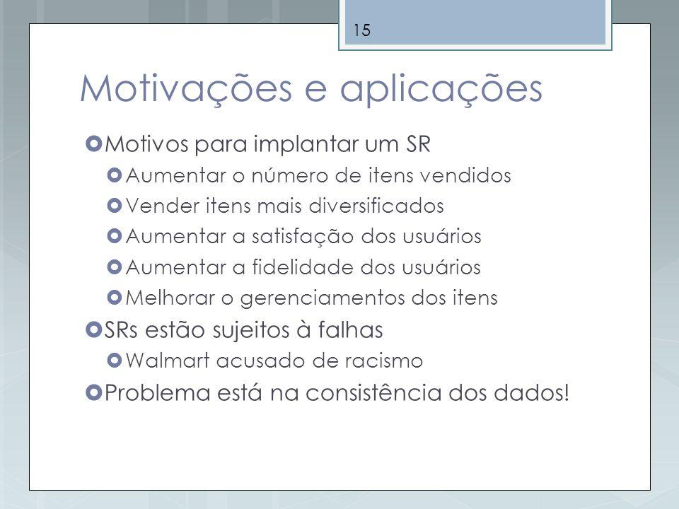 Motivações e aplicações