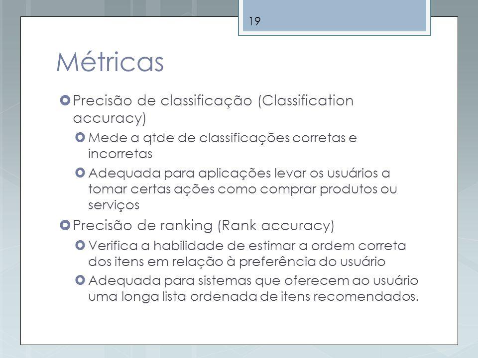 Métricas Precisão de classificação (Classification accuracy)