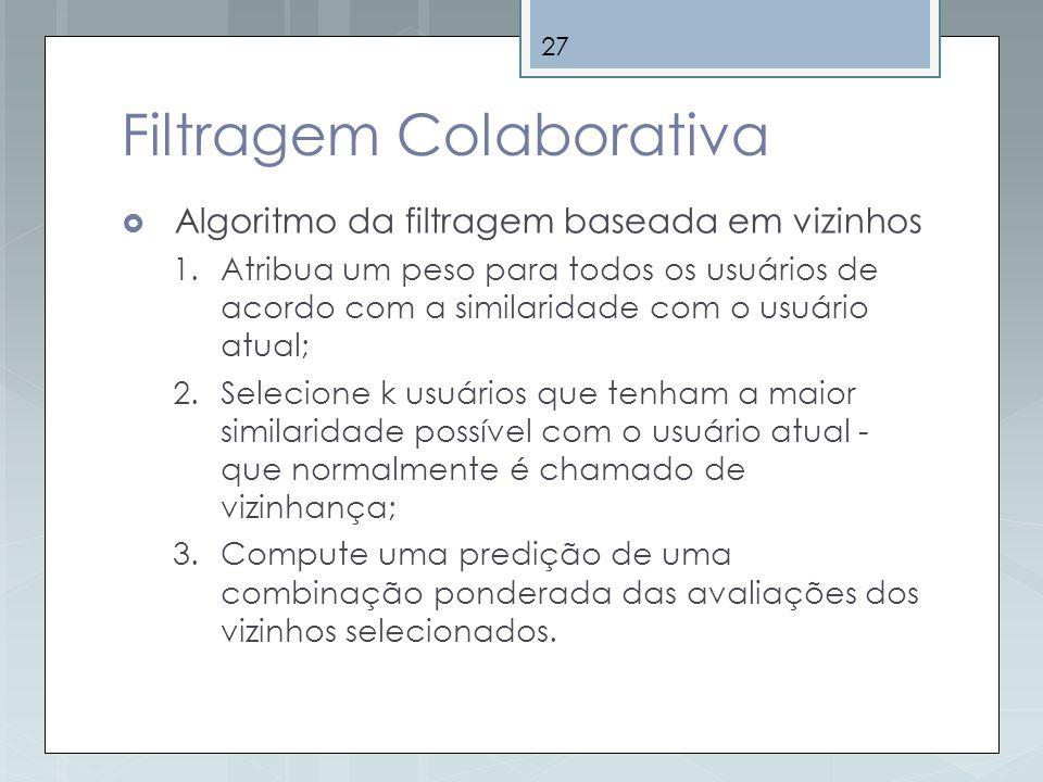 Filtragem Colaborativa