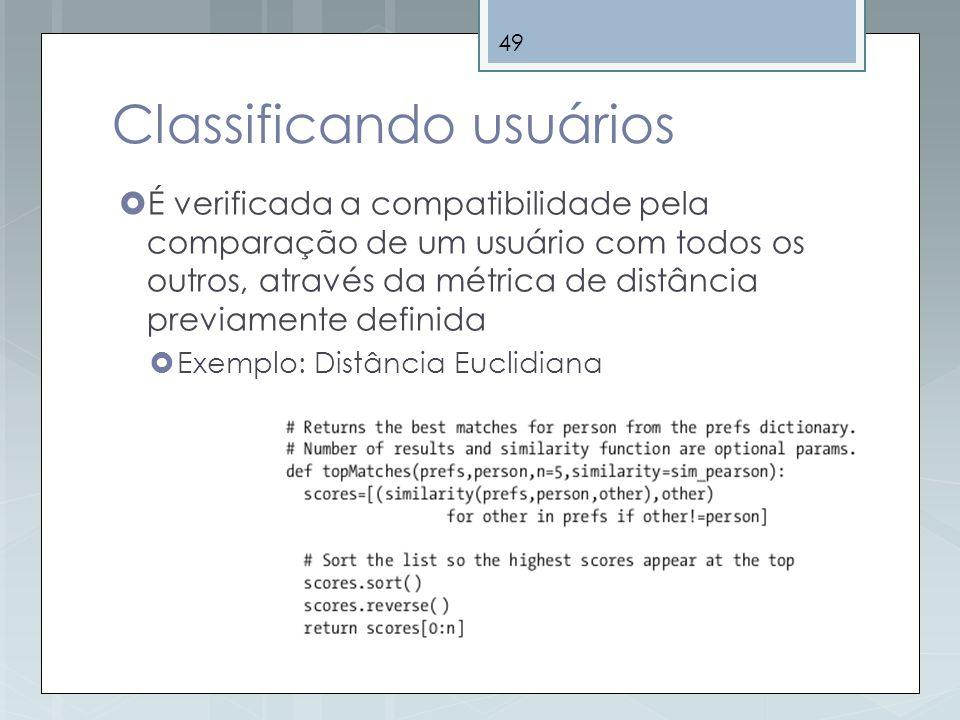 Classificando usuários