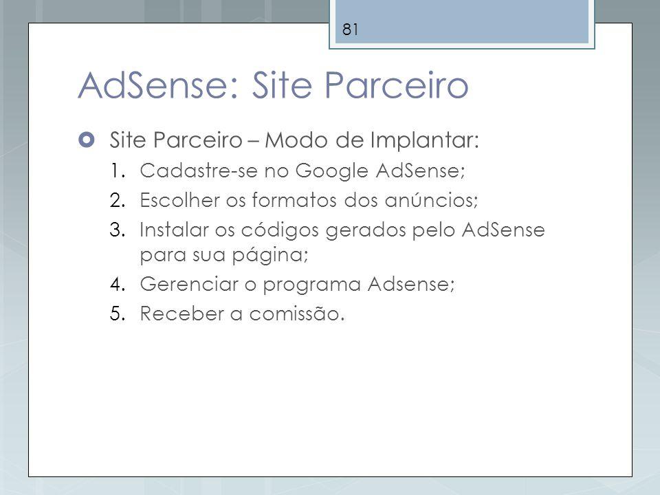 AdSense: Site Parceiro