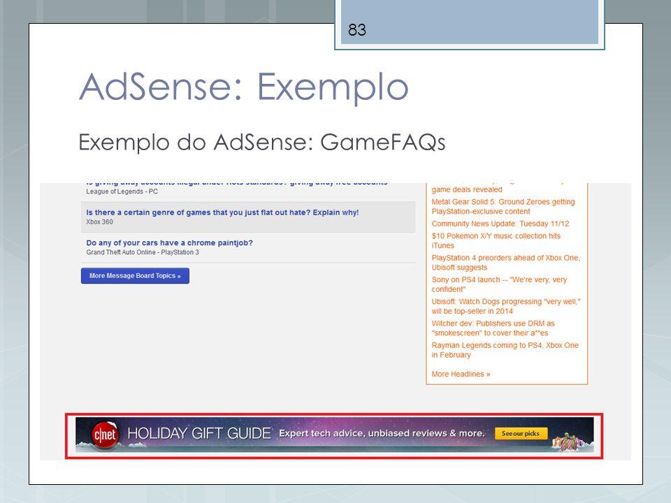 AdSense: Exemplo Exemplo do AdSense: GameFAQs