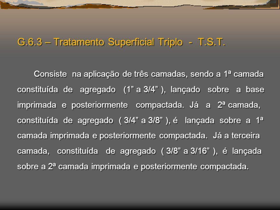 G. 6. 3 – Tratamento Superficial Triplo - T. S. T