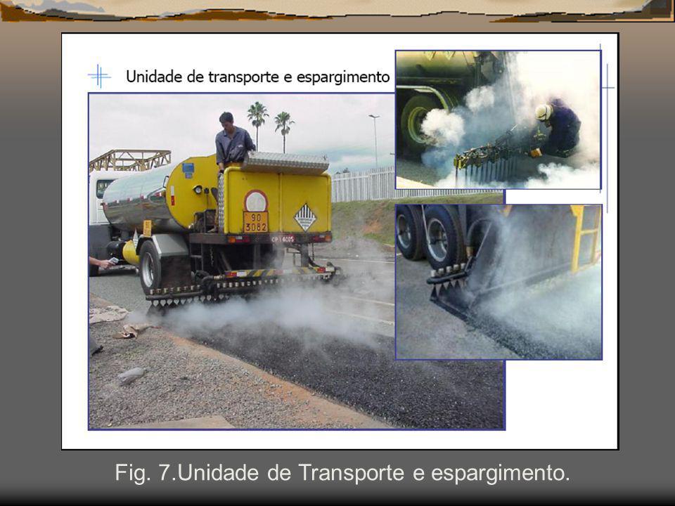 Fig. 7.Unidade de Transporte e espargimento.