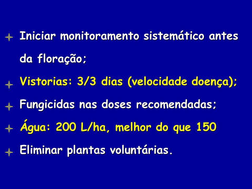 Iniciar monitoramento sistemático antes da floração;