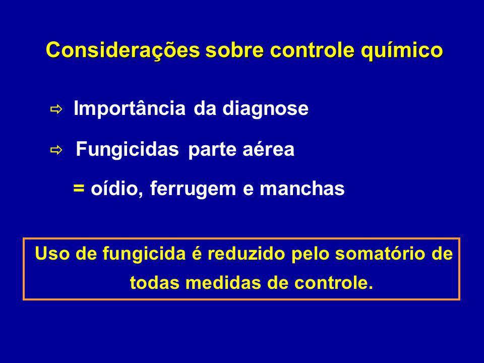Considerações sobre controle químico