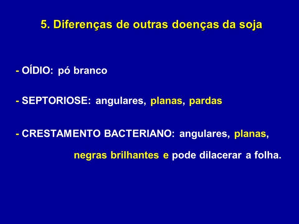 5. Diferenças de outras doenças da soja