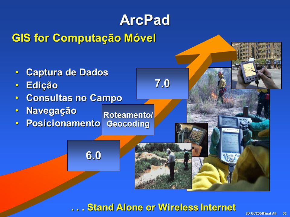 GIS for Computação Móvel . . . Stand Alone or Wireless Internet
