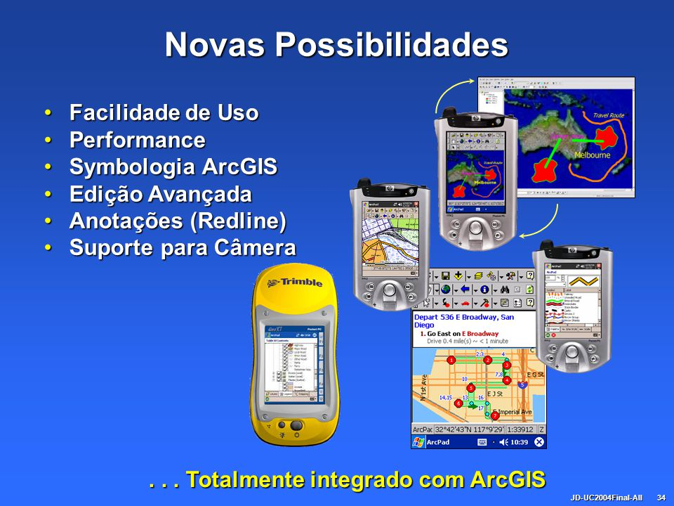 . . . Totalmente integrado com ArcGIS