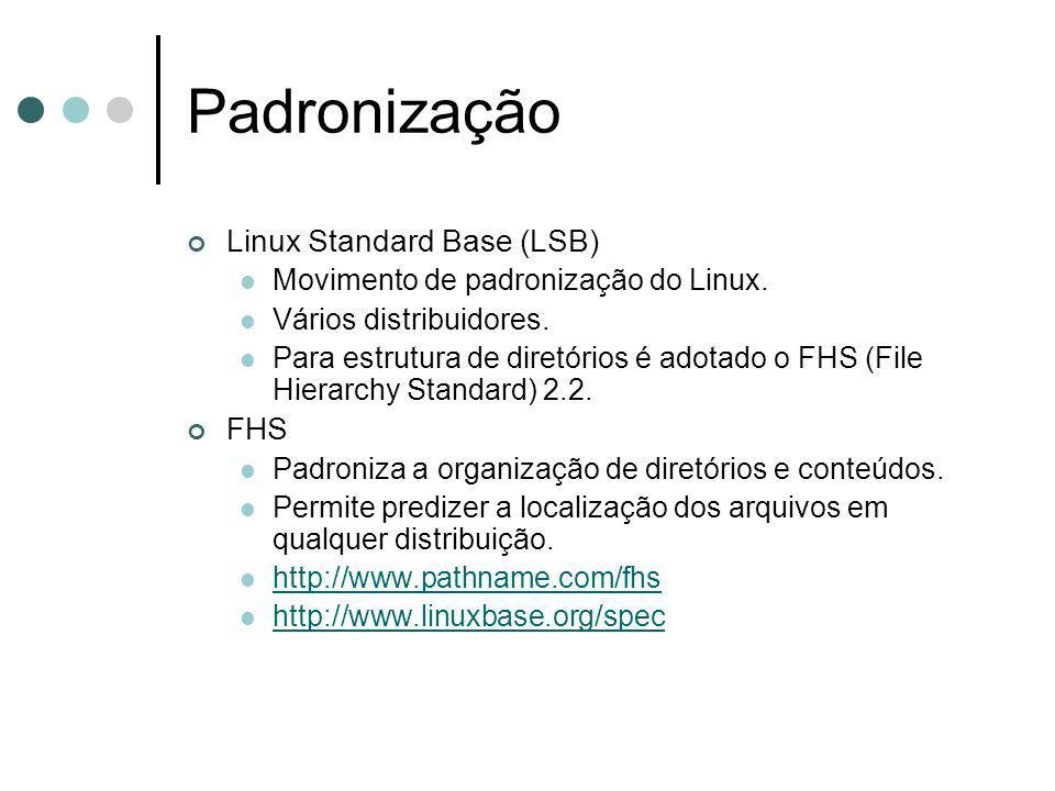 Padronização Linux Standard Base (LSB) FHS