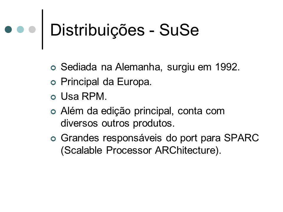 Distribuições - SuSe Sediada na Alemanha, surgiu em 1992.