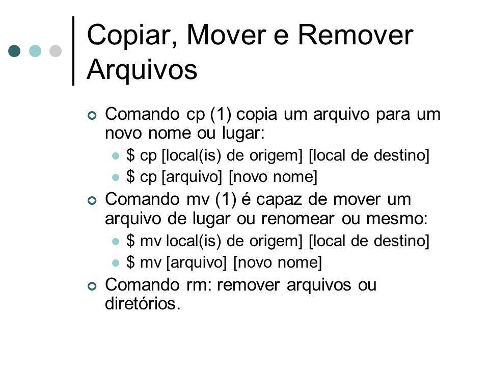 Copiar, Mover e Remover Arquivos