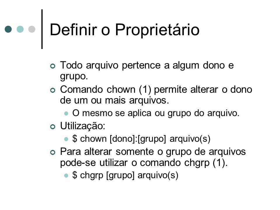 Definir o Proprietário