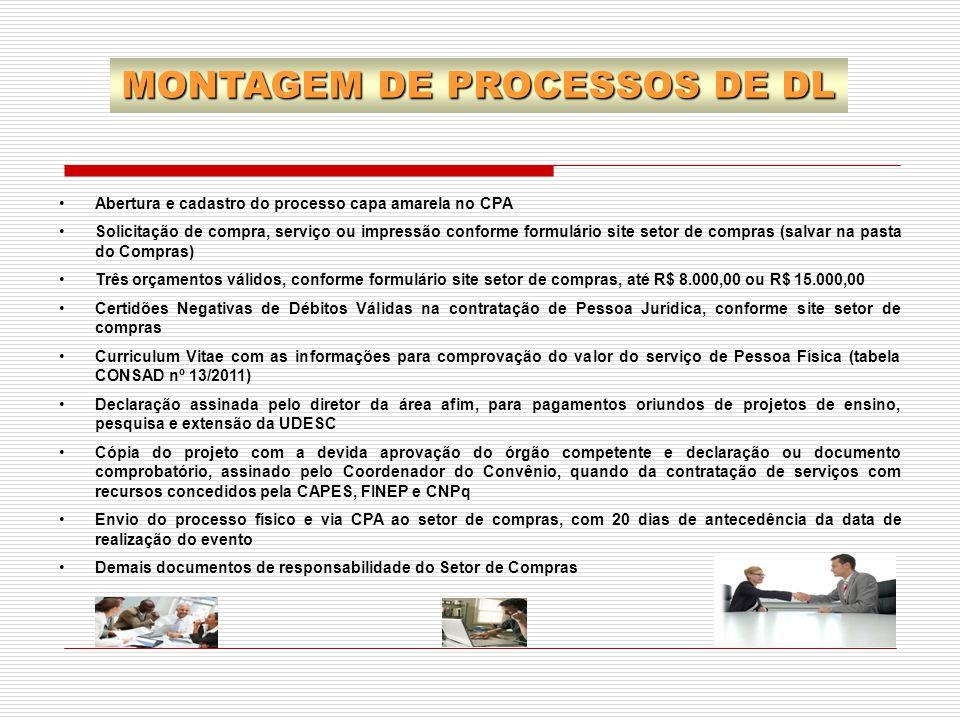 MONTAGEM DE PROCESSOS DE DL