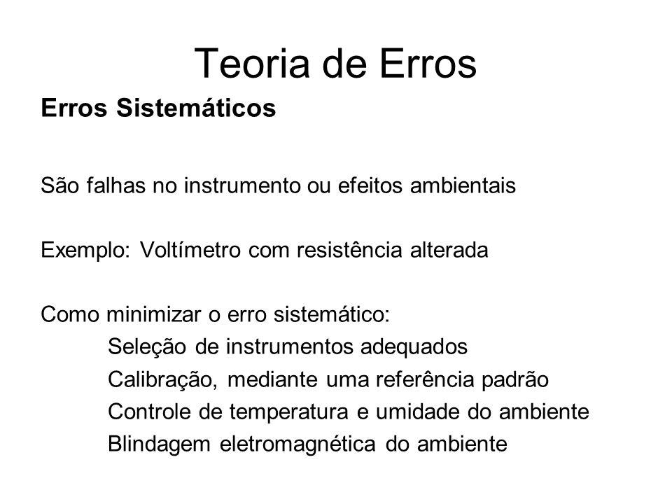 Teoria de Erros Erros Sistemáticos