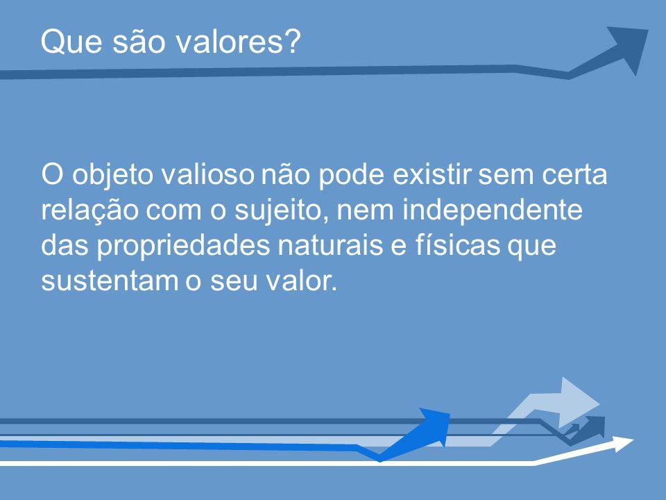Que são valores