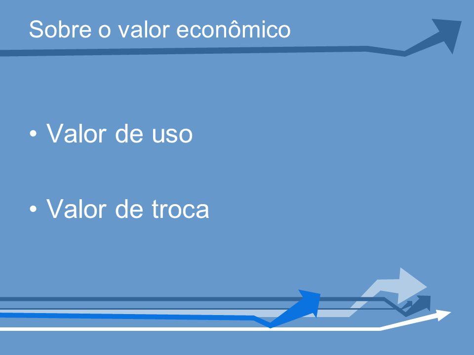 Sobre o valor econômico