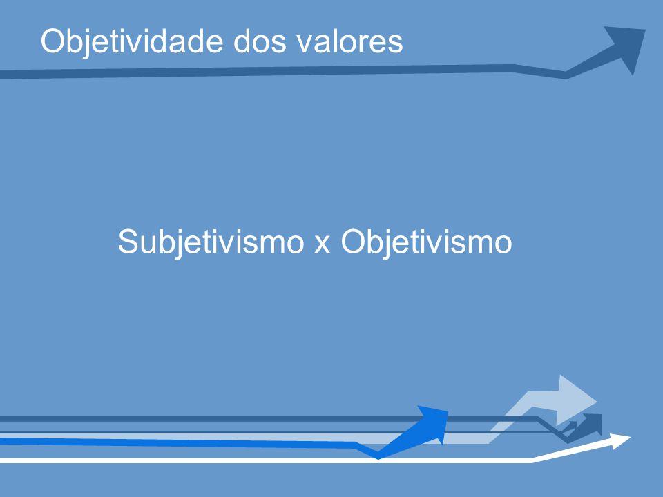 Objetividade dos valores