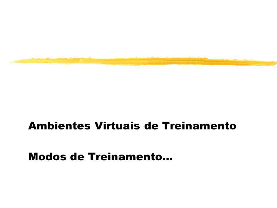 Ambientes Virtuais de Treinamento Modos de Treinamento...