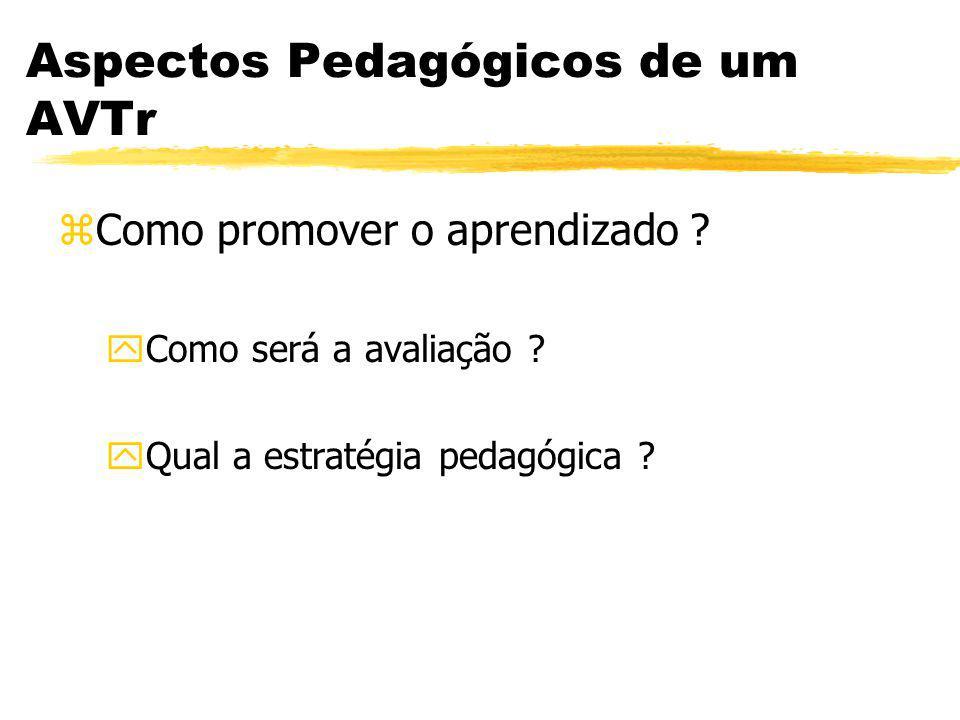 Aspectos Pedagógicos de um AVTr