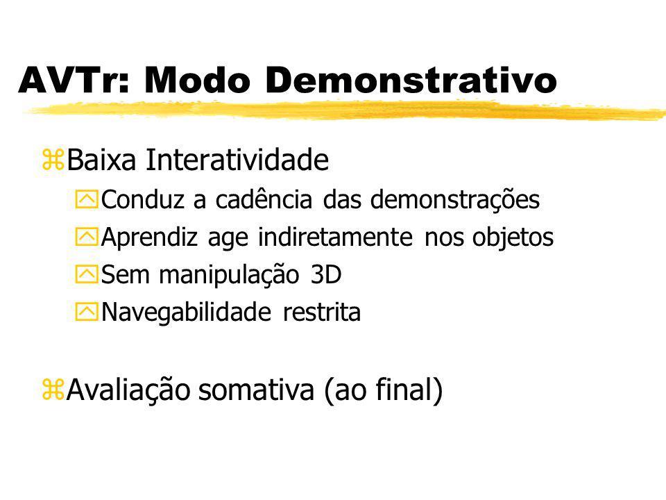 AVTr: Modo Demonstrativo