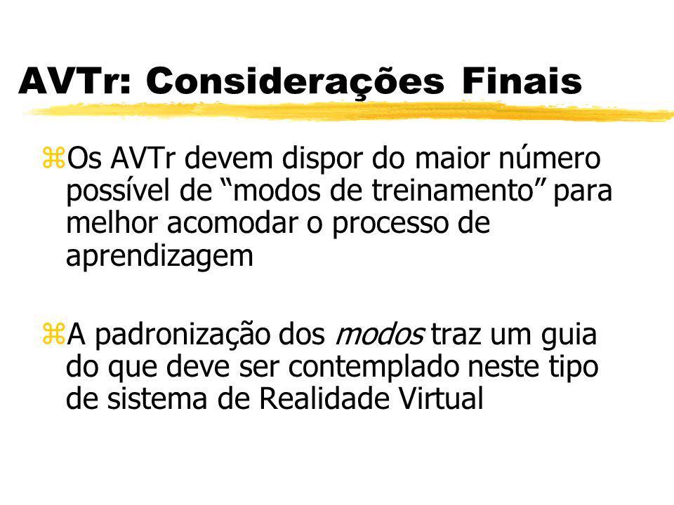 AVTr: Considerações Finais