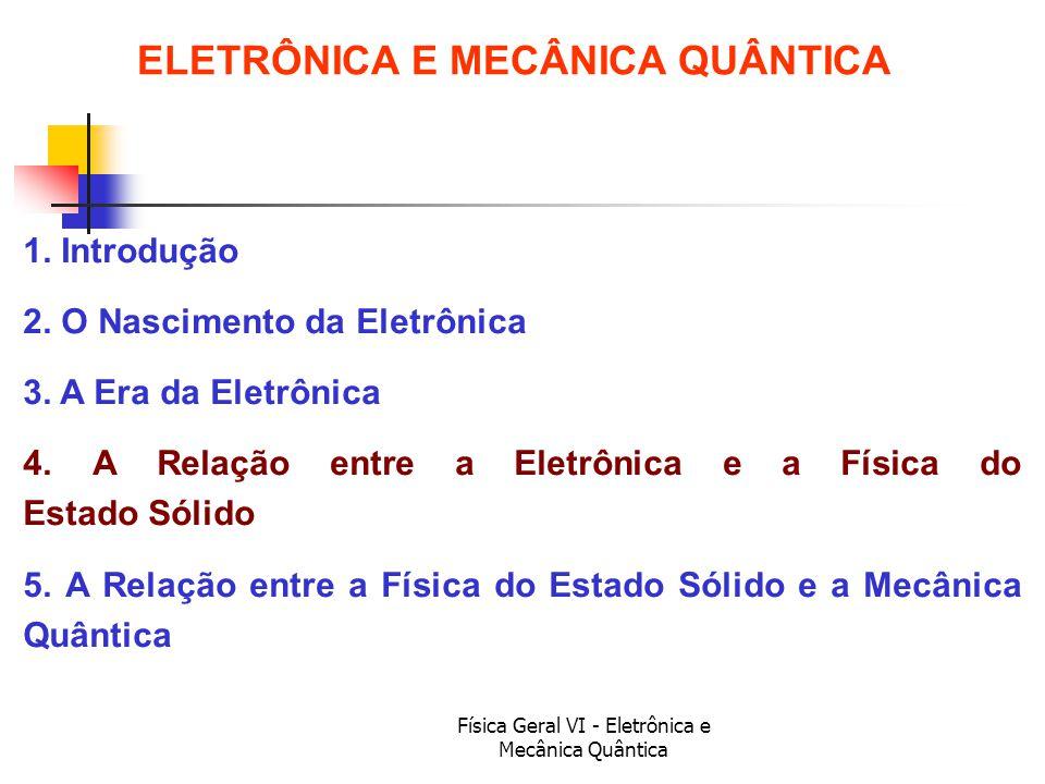 ELETRÔNICA E MECÂNICA QUÂNTICA