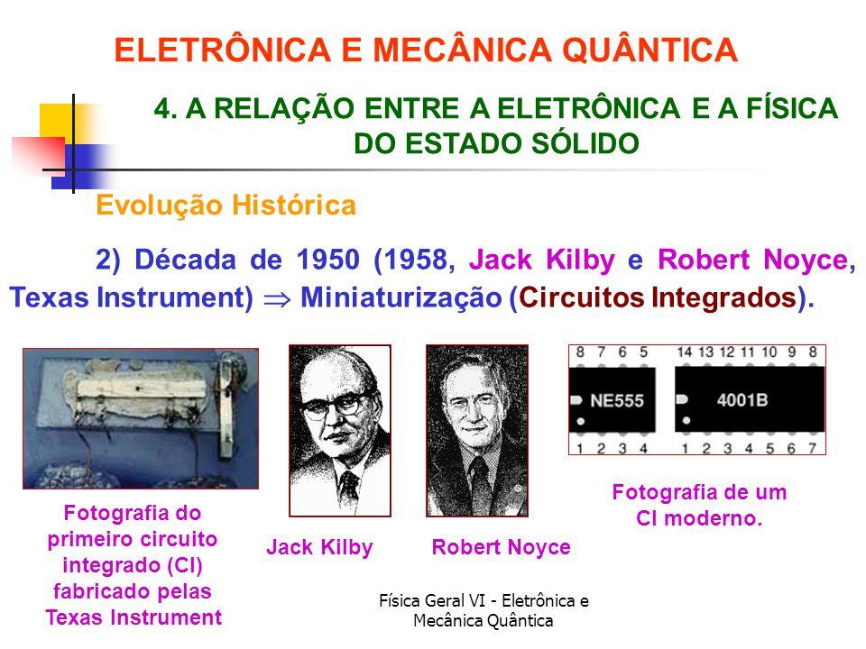 ELETRÔNICA E MECÂNICA QUÂNTICA Fotografia de um CI moderno.