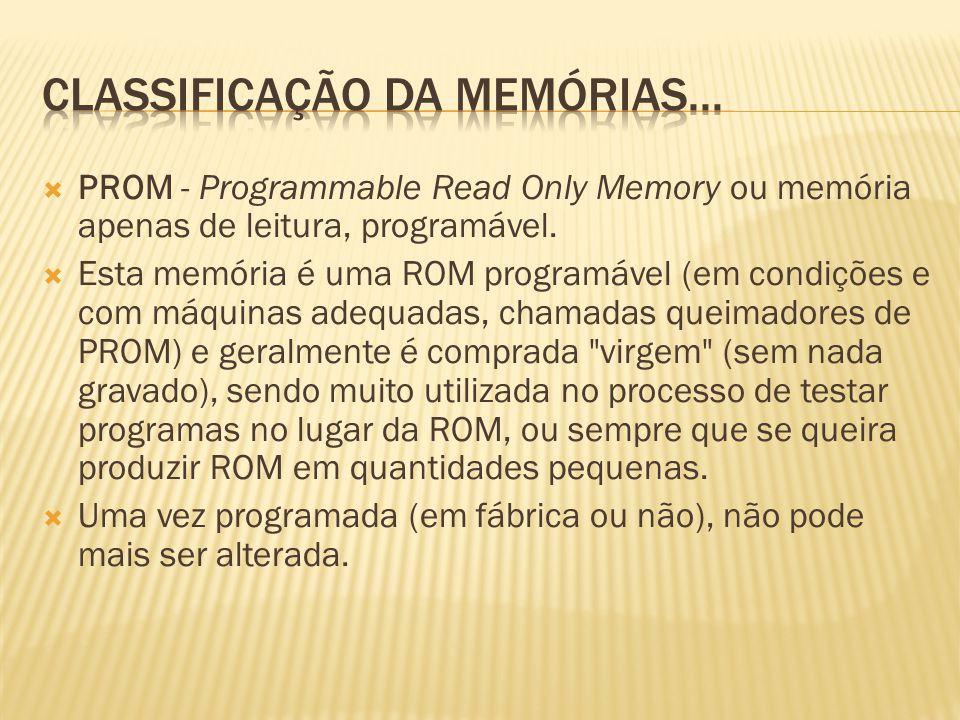 Classificação da memórias...