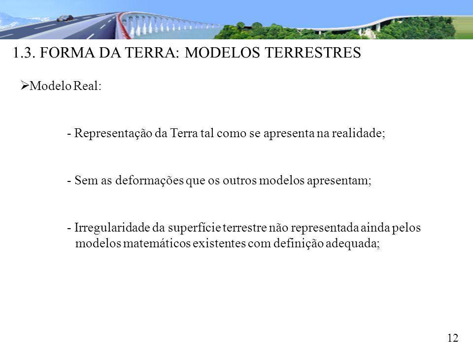 1.3. FORMA DA TERRA: MODELOS TERRESTRES