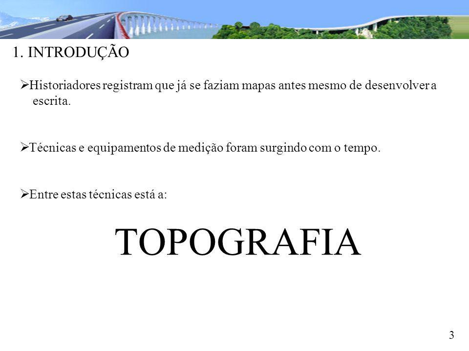 TOPOGRAFIA 1. INTRODUÇÃO