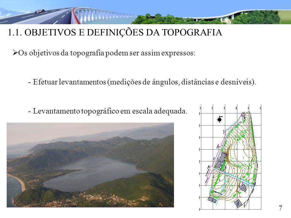1.1. OBJETIVOS E DEFINIÇÕES DA TOPOGRAFIA