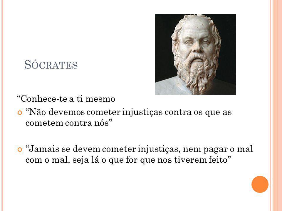 Sócrates Conhece-te a ti mesmo