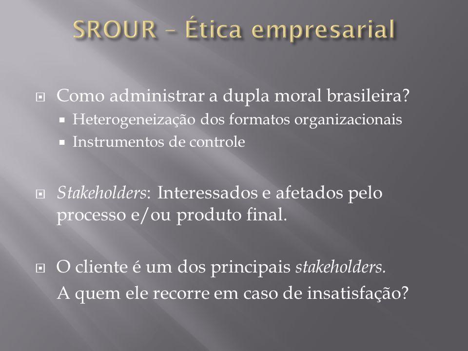 SROUR – Ética empresarial