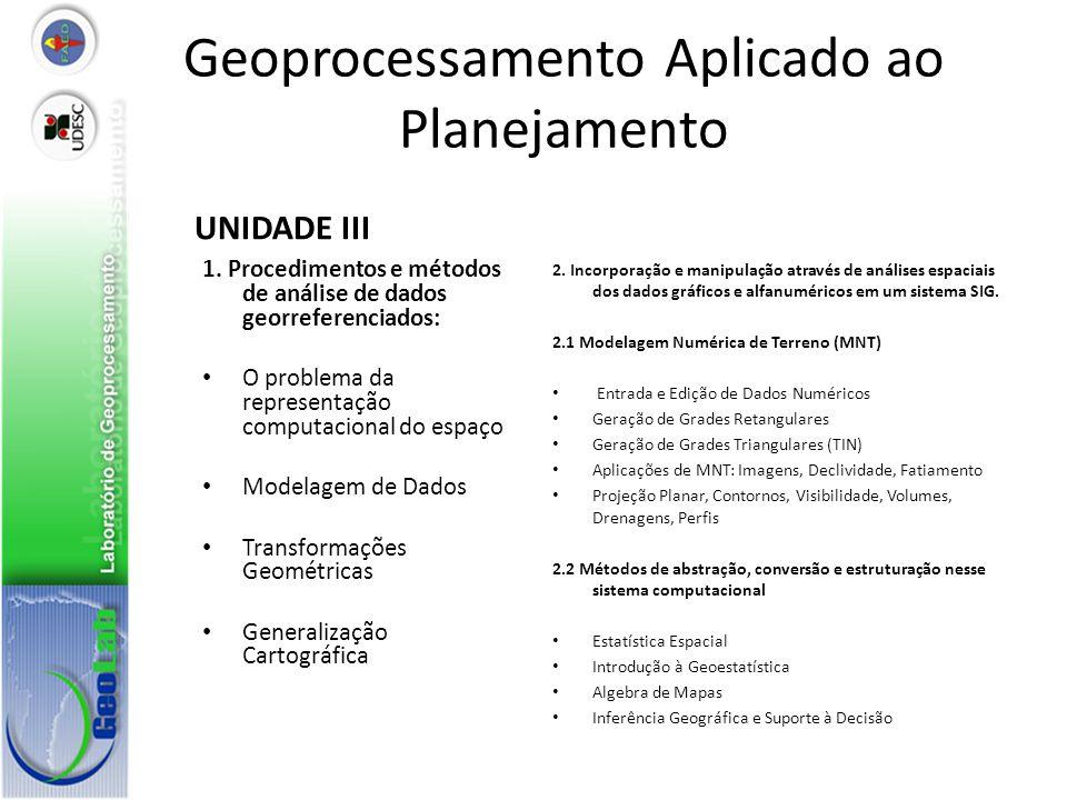 Geoprocessamento Aplicado ao Planejamento