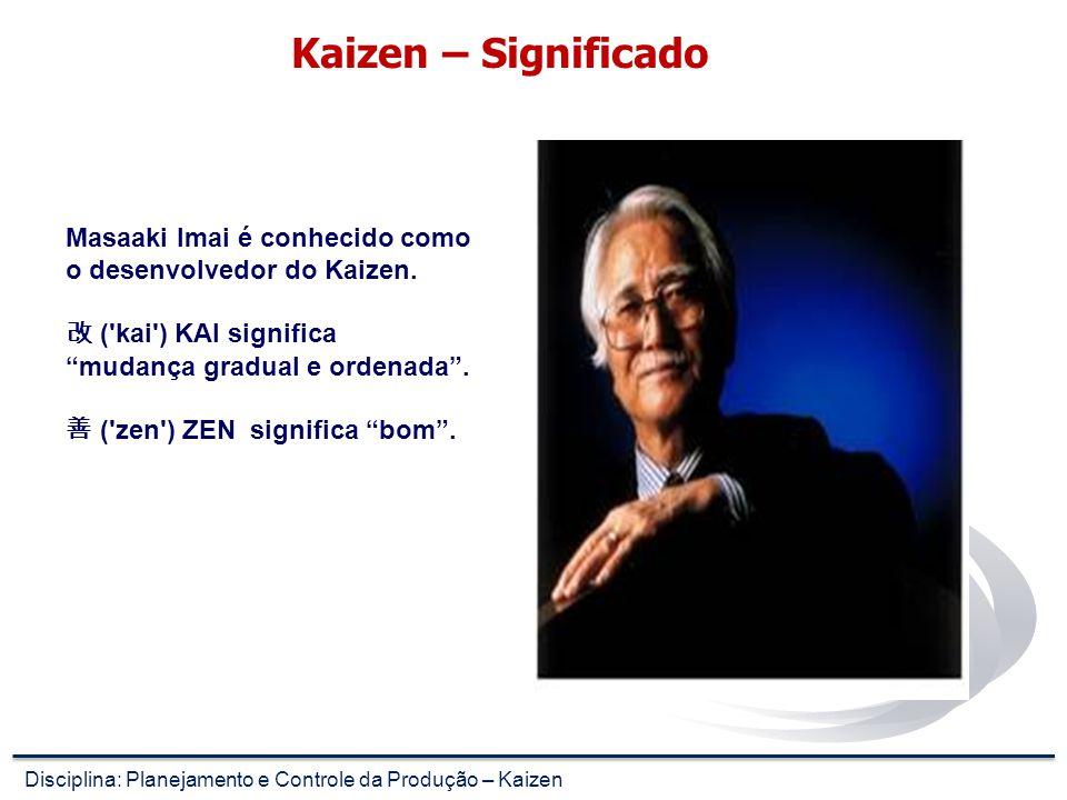 Kaizen – Significado Masaaki Imai é conhecido como o desenvolvedor do Kaizen. 改 ( kai ) KAI significa mudança gradual e ordenada .