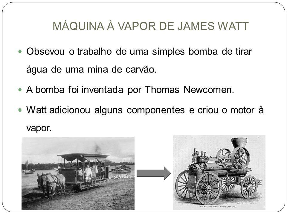 MÁQUINA À VAPOR DE JAMES WATT