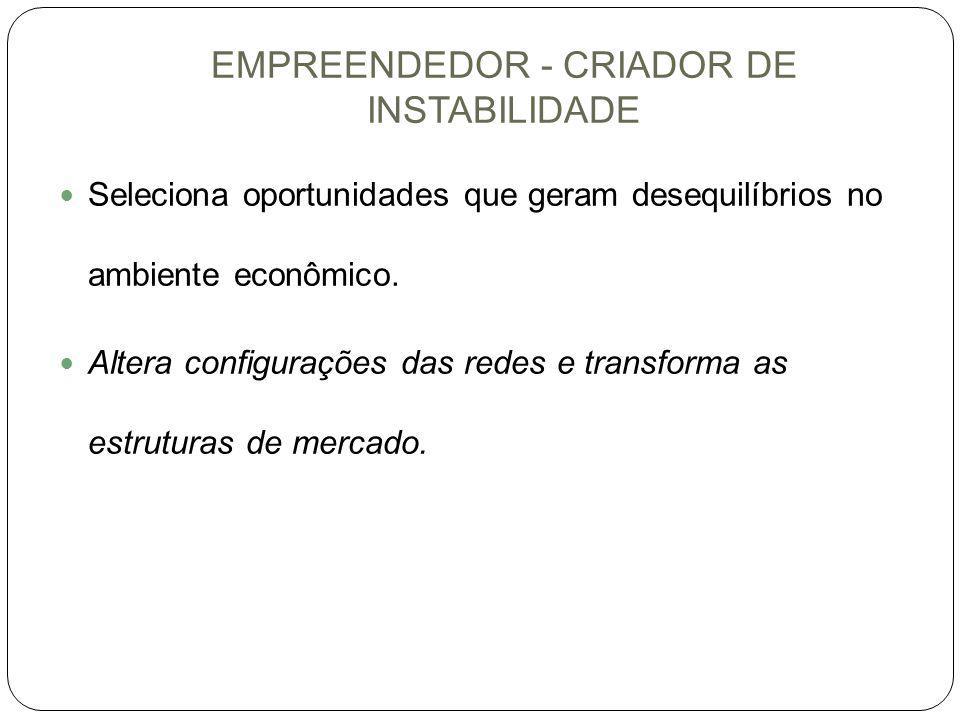 EMPREENDEDOR - CRIADOR DE INSTABILIDADE