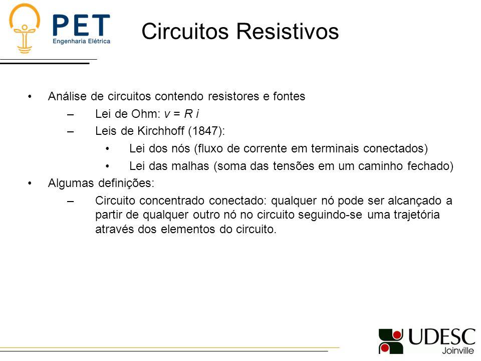 Circuitos Resistivos Análise de circuitos contendo resistores e fontes