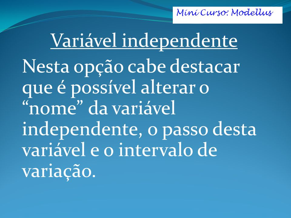 Variável independente