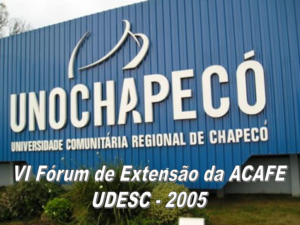 VI Fórum de Extensão da ACAFE