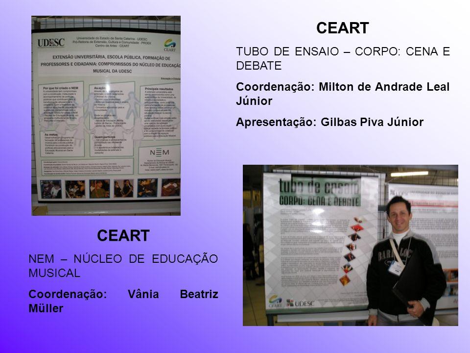 CEART CEART TUBO DE ENSAIO – CORPO: CENA E DEBATE