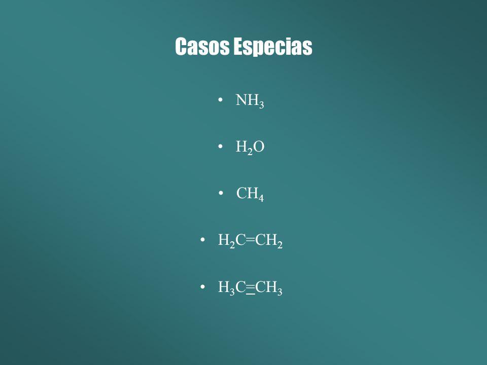 Casos Especias NH3 H2O CH4 H2C=CH2 H3C=CH3